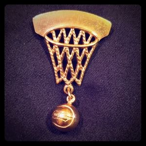 Other - Vintage gold plated basketball tie pin